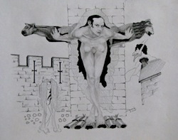 Nude with Gargoyles