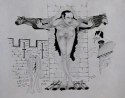 Nude with Gargoyles