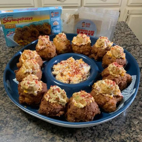 Stuffed Hushpuppies with Cheesy Shrimpetizers®