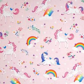 Happy Little Unicorns Pink Fabric.jpg