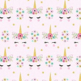 Unicorn with Flowers Fabric.jpg