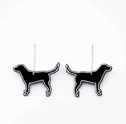 Dog Hoop Earrings