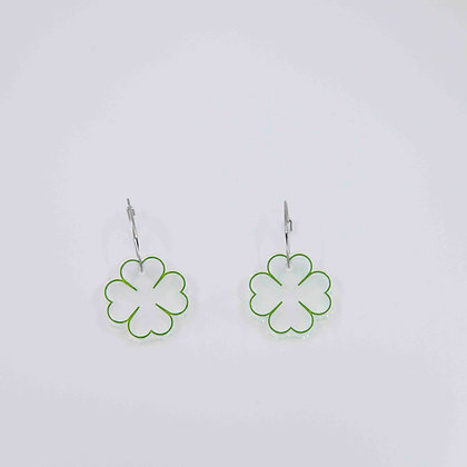 4-Leaf Clover Drop Earrings