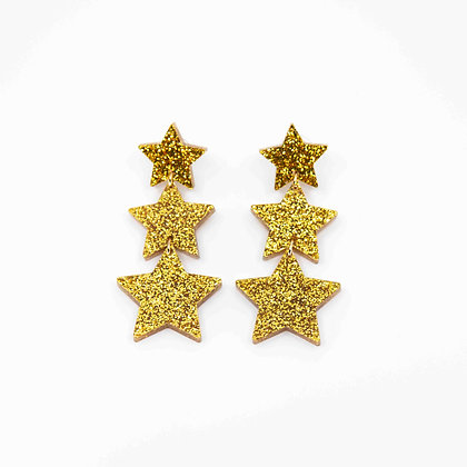Star 3-Tier Drop Earrings