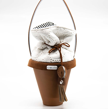 Susie Leather Pot Plant Bag