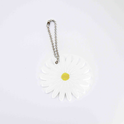 Daisy Leather Key Ring/Bag Charm
