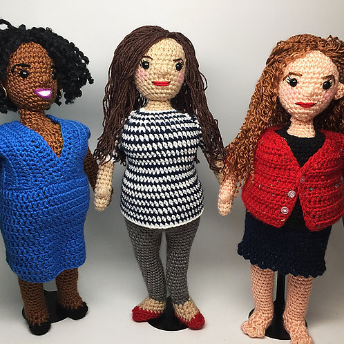 Curvy Girl Amigurumi Pattern Set