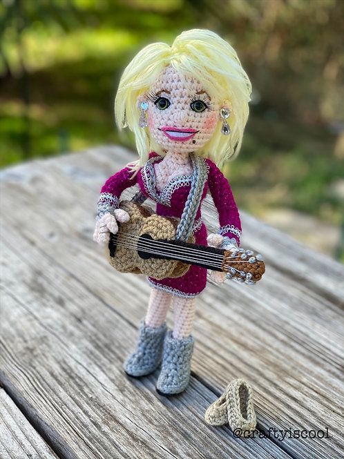Country Singer with Guitar Amigurumi Pattern