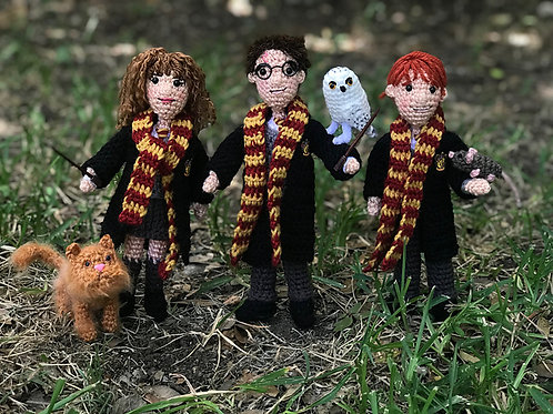 Harry Potter and Friends Amigurumi Pattern Set