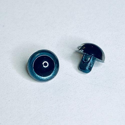 Realistic 9mm Blue Sew-on Eyes for Amigurumi