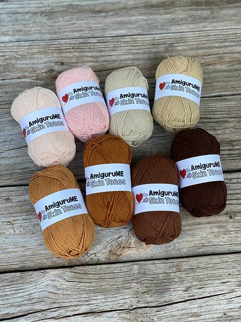 Choose Any 4 - AmiguruMe Skin Tones Yarn Set