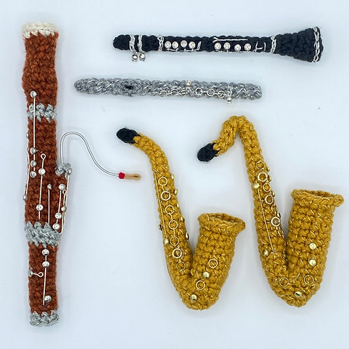 Woodwind Instruments Amigurumi Pattern