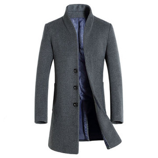 RM316.87-Mid-long Casual Wool Trench Coat