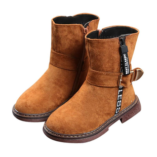 Boys Kids Metal Buckle Cool Mid-calf Boots -US$26.32