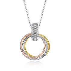 925 Silver Circle Charm Necklaces-US$34.64