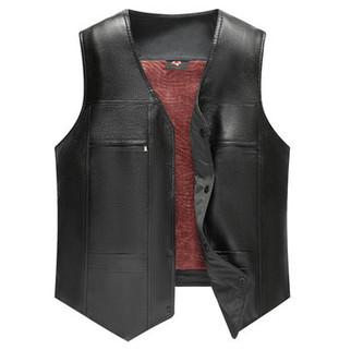 Mens PU Leather Thicken Suit Vest-US$17.46