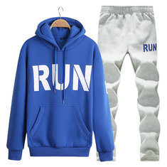 Slim Fit Hooded Casual Sport Suit