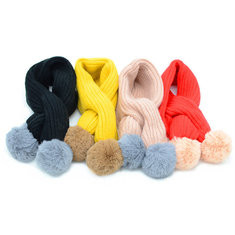 Solid Color Knit Kid Warm Scarves-US$15.00