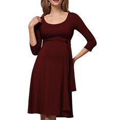 Maternity Nursing Dress With Waistband-US$26.99