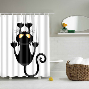 Fabric Shower Curtain Waterproof Polyester -US$25.98