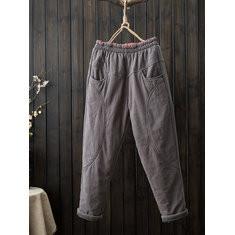 Vintage Harem Thick Cotton Pants-RM184.45