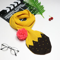Kids Knit Cotton Warm Ball Decor Scarf-US$15.00