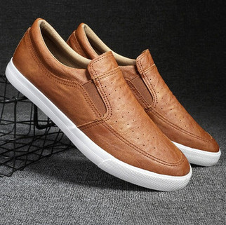 RM160.71 - Men Breathable Non-slip Casual Leather Shoes