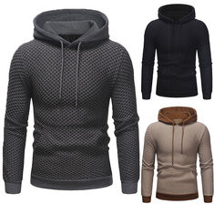 Casual Pullover Stitching Color Hooded Sweatshirt -US$32.32