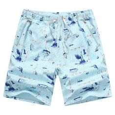 100% Cotton Breathable Board Shorts-US$12.52