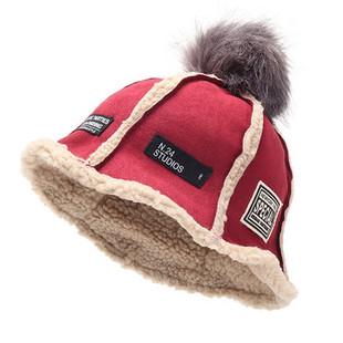 Women Winter Lamb Wool Bucket Hat -RM58.54