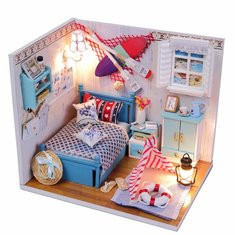 Summer Romance DIY Dollhouse-US$18.52