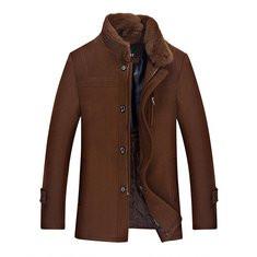Mid Long Woolen Warm Trench Coat-US$87.40