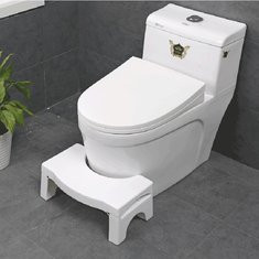 Non-slip Toilet Foot Stool White Folding Ergonomic Homeuse Removable Plastic  Toilet Auxiliary Stool Bathroom Supplies-US$27.99