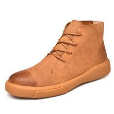 Men Genuine Leather Non-slip Casual Boots-RM230.68