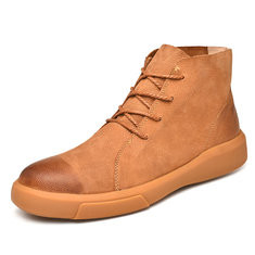 Men Genuine Leather Non-slip Casual Boots-RM230.68