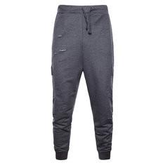 Hole Drawstring Sport Jogger Pants