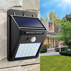 Solar Power 20 LED Wall Light -US$7.99
