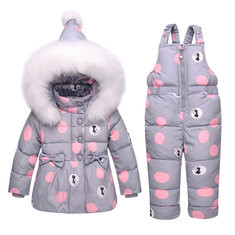 Girls Down Snow Clothing Set For 0-36M