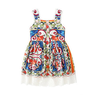 RM135.97 - Casua Printed Sleeveless Dress 4-13Y