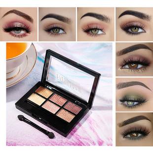 6 Colors Eyeshadow Palette -US$10.59