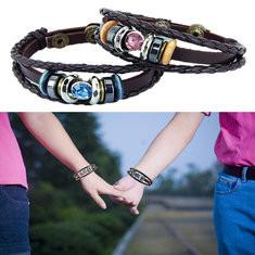 Ethnic Leather Couple Bracelets-US$9.99