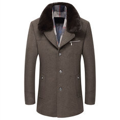 Woolen Warm Thickened Business Trench Coat-US$79.69