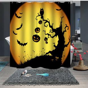 Halloween Bathroom Waterproof Shower Curtain -US$19.96