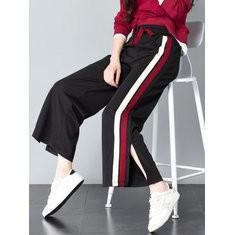 Wide Leg Side Striped High Waist Pants-RM85.88