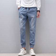 Comfy Stylish Denim Retro Washed Jeans-US$14.69