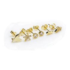 JASSY® Cute Fish Star Gold Stud Earrings-US$27.71
