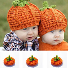Pumpkin Baby Knitted Hat For 0-1 Years-US$10.00