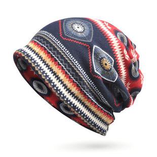 Women Dual-use Stripe Print Beanie Hats -RM35.81
