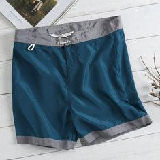 Quick Dry Patchwork Drawstring Shorts-US$15.47