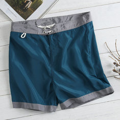 Quick Dry Patchwork Drawstring Shorts-US$15.47